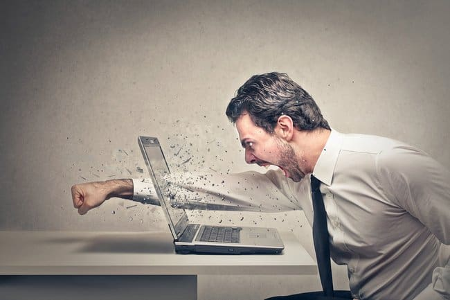 Business owner get angry with website